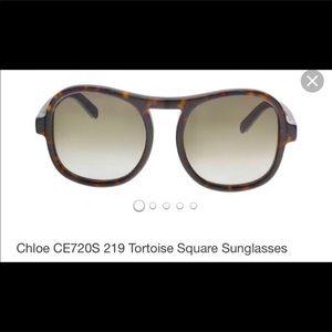 Chloe Marlo  aviator sunglasses tortoiseshell